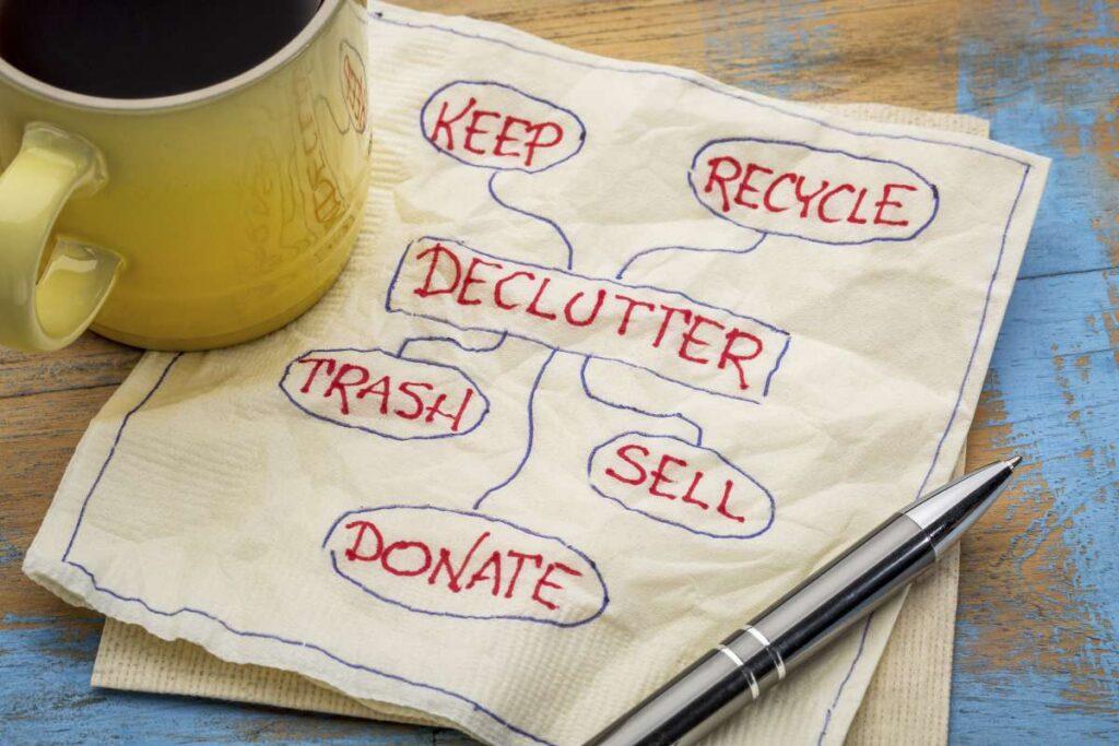 Decluttering plan